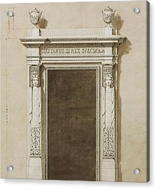 Design For Wall Decorations For The Salon De Compagnie Acrylic Print