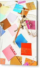 Design In Abstract Geometry Acrylic Print
