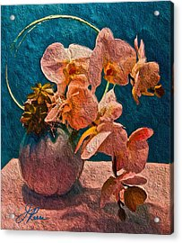 Designer Floral Arrangement Acrylic Print by Joan Reese