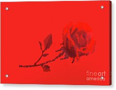 Acrylic Print featuring the photograph Designer Red Rose by Linda Phelps