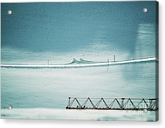 Acrylic Print featuring the photograph Designs And Lines - Winter In Switzerland by Susanne Van Hulst