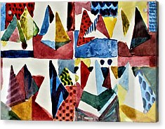Acrylic Print featuring the painting Designs For Pyramids by Mindy Newman