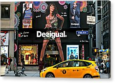 Desigual Acrylic Print by Diana Angstadt