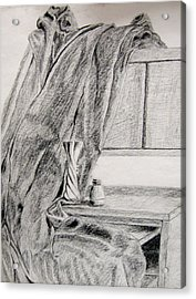 Desk And Curtain Acrylic Print by Diana Prout