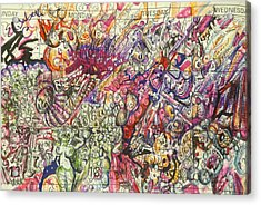 Acrylic Print featuring the drawing Desktop Calender Doodle by Steven Holder