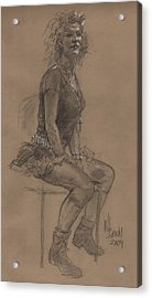 Desperately Seeking Dr Sketchy Acrylic Print by Will Brown
