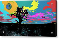 Dessert World And Its Alternate Universe Acrylic Print by Kenneth James