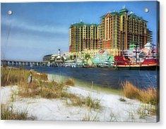 Acrylic Print featuring the photograph Destin Harbor # 2 by Mel Steinhauer