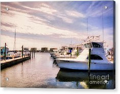 Destin Harbor Daydreams Acrylic Print by Mel Steinhauer
