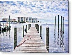 Acrylic Print featuring the photograph Destin Harbor Marina # 2 by Mel Steinhauer