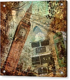 Destination London Acrylic Print by Mindy Sommers