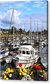 Destiny Sidney Harbor British Columbia Canada Painting Acrylic Print