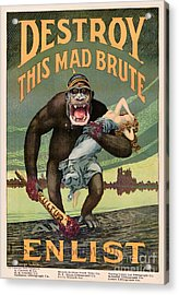 Destroy This Mad Brute - Restored Vintage Poster Acrylic Print