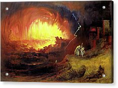 Destruction Of Sodom And Gomorah Acrylic Print