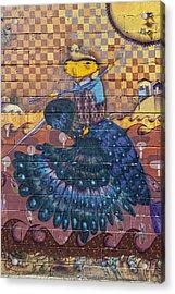 Detail - Mural Coney Island Acrylic Print by Robert Ullmann