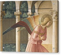 Detail From The Annunciation Showing Archangel Gabriel Acrylic Print by Fra Angelico
