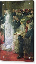 Detail From The Civil Marriage Acrylic Print by Henri Gervex
