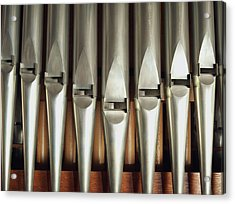 Detail Of A Pipe Organ Acrylic Print by Gregor Hohenberg