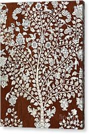 Detail Of A Vintage Botanical Pattern Acrylic Print