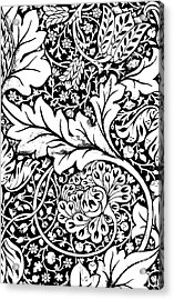 Detail Of A Vintage Textile Pattern Design By William Morris Acrylic Print