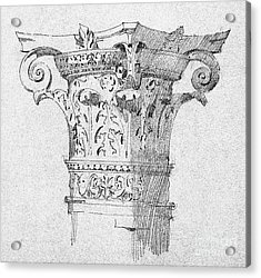 Detail Of Capitals From Bologna, 1891 Acrylic Print