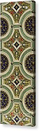 Detail Of Decoration On Mirror Of Vault In Sala Delle Storie Acrylic Print by Paul Marie Letarouilly