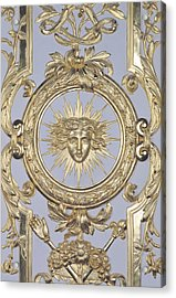 Detail Of Panelling Depicting The Emblem Of Louis Xiv From Versailles Acrylic Print