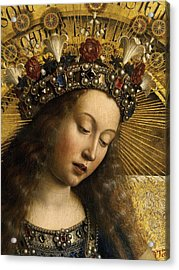 Detail Of The Virgin Mary From The Ghent Altarpiece Acrylic Print