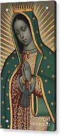 Detail Of The Virgin Of Guadalupe Oil On Copper Acrylic Print
