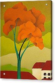 Detailed  Landscape 2009 Acrylic Print by S A C H A -  Circulism Technique