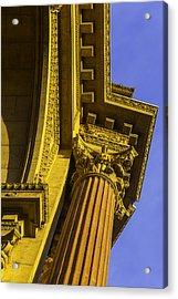 Details Palace Of Fine Arts Acrylic Print