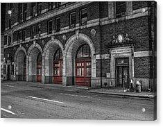 Detroit Fire Department Headquarters  Acrylic Print