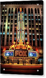 Detroit Fox Theatre Marquee Acrylic Print