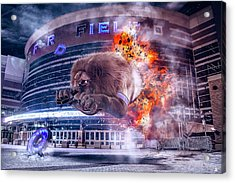 Acrylic Print featuring the photograph Detroit Lions At Ford Field 2 by Nicholas Grunas