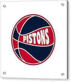 Detroit Pistons Retro Shirt Acrylic Print by Joe Hamilton