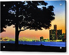 Detroit River View Acrylic Print by Dennis Cox WorldViews