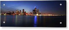 Detroit Skyline 1 Acrylic Print by Gordon Dean II
