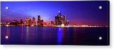 Detroit Skyline 3 Acrylic Print by Gordon Dean II