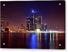 Detroit Skyline 4 Acrylic Print by Gordon Dean II