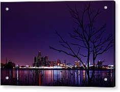 Detroit Skyline Acrylic Print by Cale Best