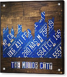 #detroit #themotorcity #michigan #city Acrylic Print
