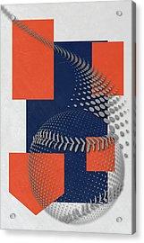Detroit Tigers Art Acrylic Print by Joe Hamilton
