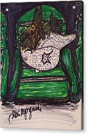Detroit Tigers Baseball Hat Acrylic Print by Geraldine Myszenski