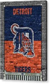 Detroit Tigers Brick Wall Acrylic Print by Joe Hamilton