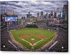 Detroit Tigers Comerica Park 4837 Acrylic Print by David Haskett
