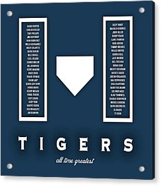 Detroit Tigers Art - Mlb Baseball Wall Print Acrylic Print by Damon Gray