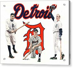 Detroit Tigers Legends Acrylic Print