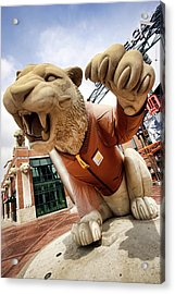 Detroit Tigers Tiger Statue Outside Of Comerica Park Detroit Michigan Acrylic Print