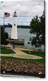 Detroit Waterfront Lighthouse Acrylic Print