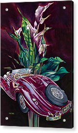 Deutschland Uber Lilies Acrylic Print by Mike Hill